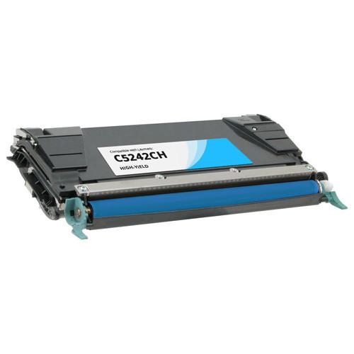 Lexmark C5242CH Cyan High Yield Toner Cartridge