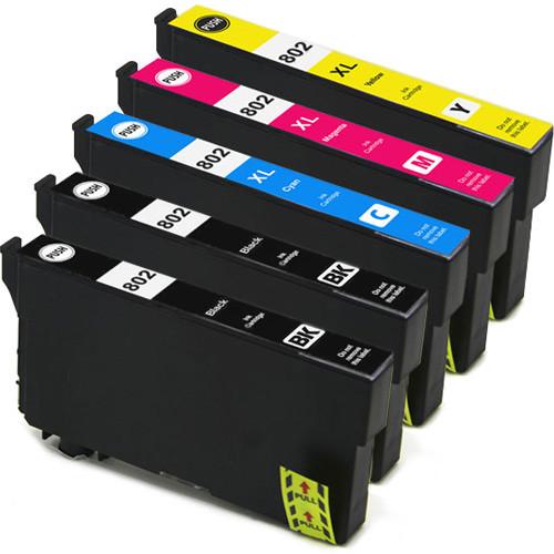 Epson 802 Black & 802XL Color Set 5-pack
