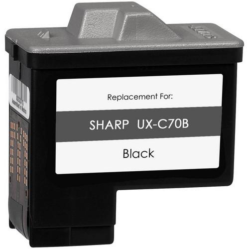 black ink cartridge for Sharp UX-C70B