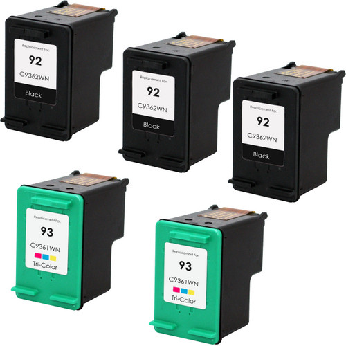HP 92 - 93 Set 5-Pack replacement