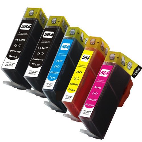 HP 564XL-black- color-Set replacement