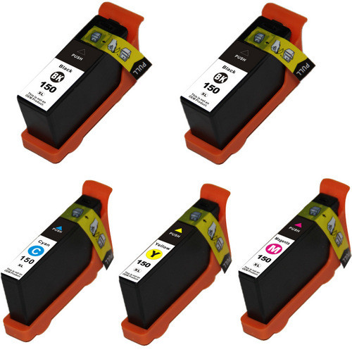 Lexmark 150XL Black and Color 5-Pack replacement