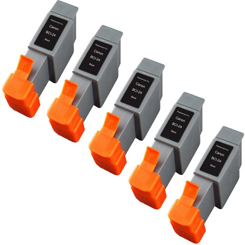 Canon BCI-24 Black 5-pack replacement