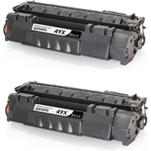 HP 49X  - Q5949X Black 2-pack replacement