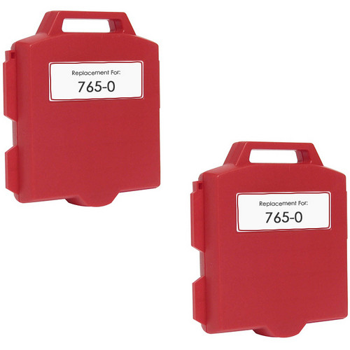 Pitney-Bowes 765-0 fluorescent red ink cartridge - 2 Pack