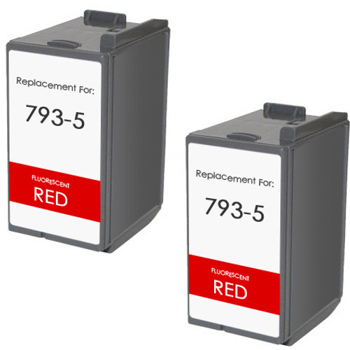 Pitney-Bowes 793-5 fluorescent  red ink cartridge - 2 Pack