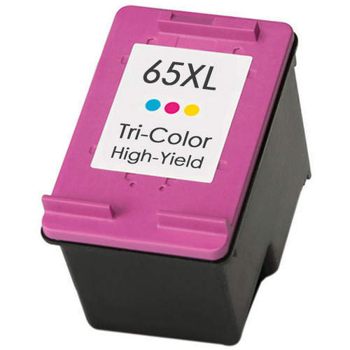 HP 65XL Ink Cartridge, Color, High Yield, N9K03AN