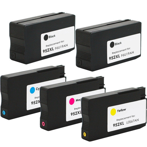 HP 952XL 5-Pack Ink Cartridges
