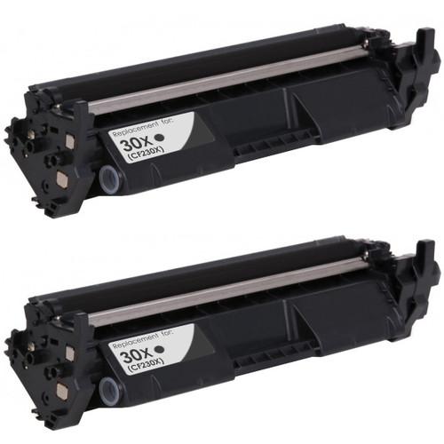 Twin pack, HP 30X Toner Cartridge, Black, High Yield (CF230X)