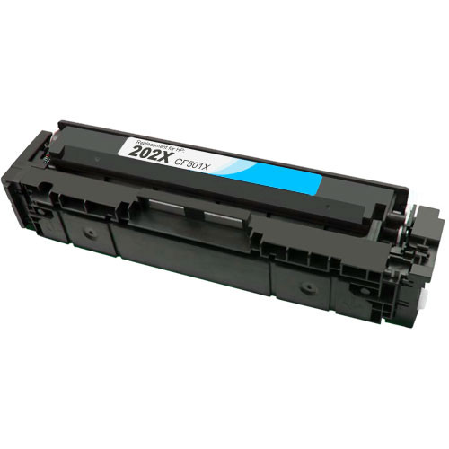 HP 202X Toner Cartridge, Cyan, High Yield (CF501X)