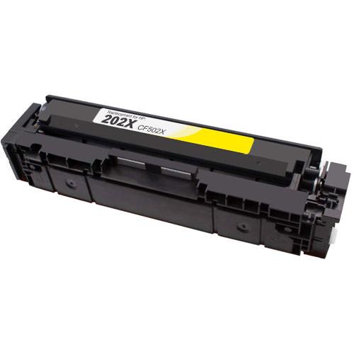 HP 202X Toner Cartridge, Yellow, High Yield (CF502X)