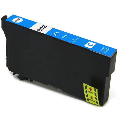 Epson 802XL High Yield, Cyan Ink Cartridge (T802XL220)