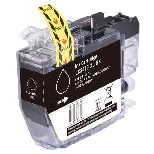 Brother LC3013BK Ink Cartridge, Black, High-Yield