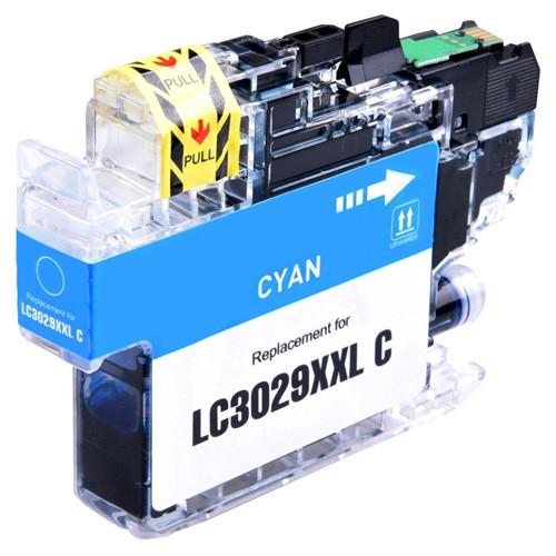 Brother LC3029C Ink Cartridge, Cyan, Super High-Yield