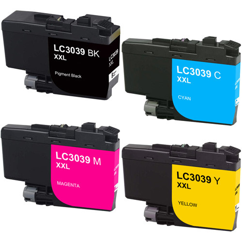 Brother LC3039 Ink Cartridge, Ultra High-Yield, 4-Pack