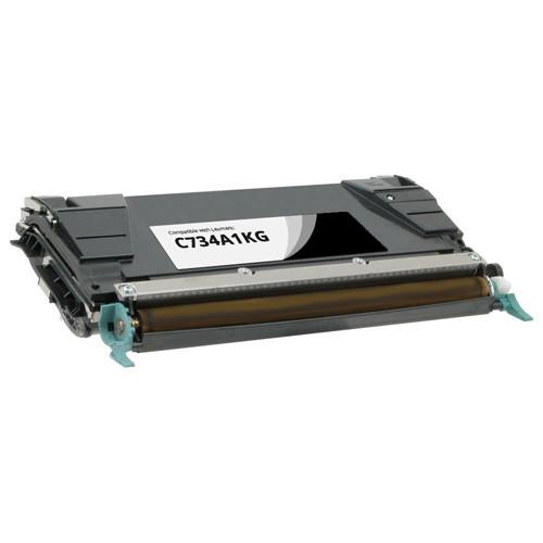 Lexmark C734A1KG Black Toner Cartridge