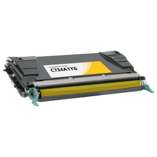 Lexmark C734A1YG Yellow Toner Cartridge