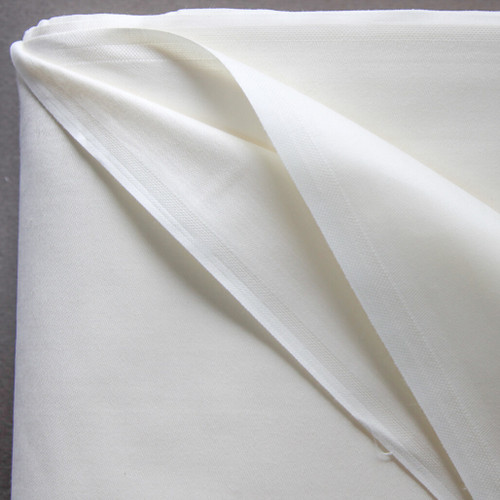 100% cotton sateen curtain lining in ivory