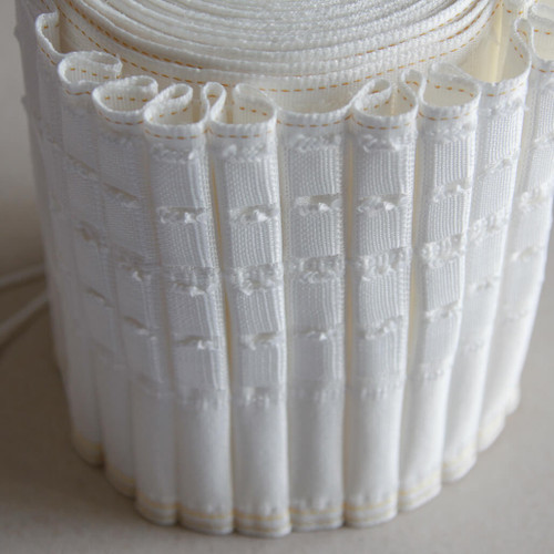 "woven pocket deep 6"" pencil pleat curtain heading tape"