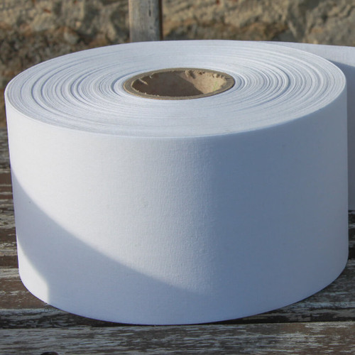 Single side fusible cotton buckram for hand made curtain headings