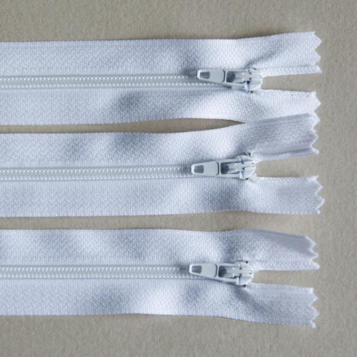 Closed No 3 white zips