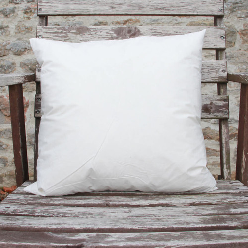 Duck feather square cushion pad