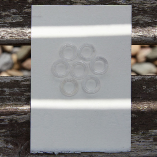 Small clear plastic ring