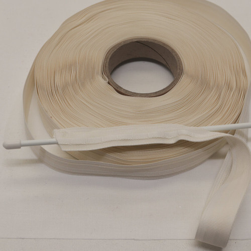 ecru side entry roman blind tape