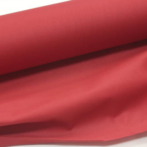 geranium red 100% cotton sateen curtain lining