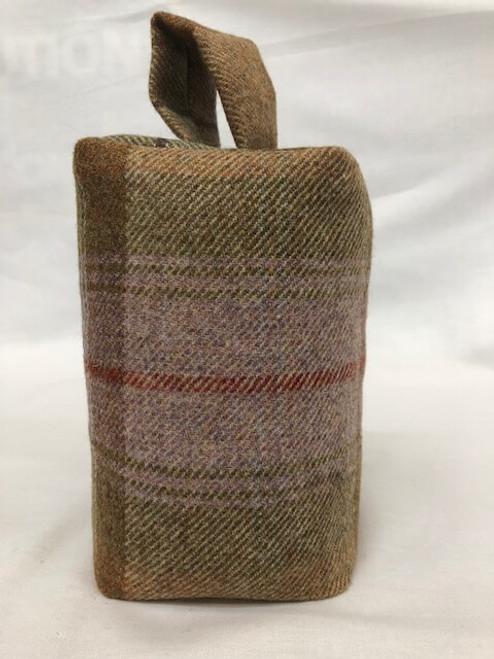 Etal Plaid wool tweed doorstop