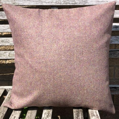 Herringbone Thistle pure wool tweed cushion cover