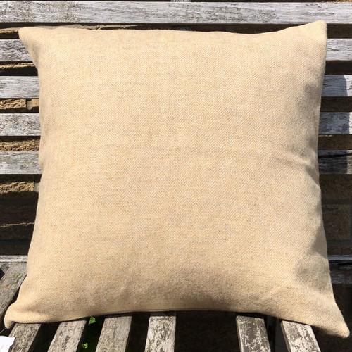 Herringbone Driftwood pure wool tweed cushion cover