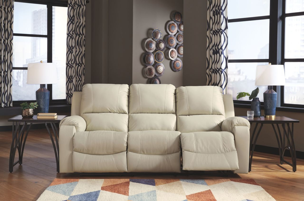 The Rackingburg Cream Reclining Sofa Available At Nashco Furniture