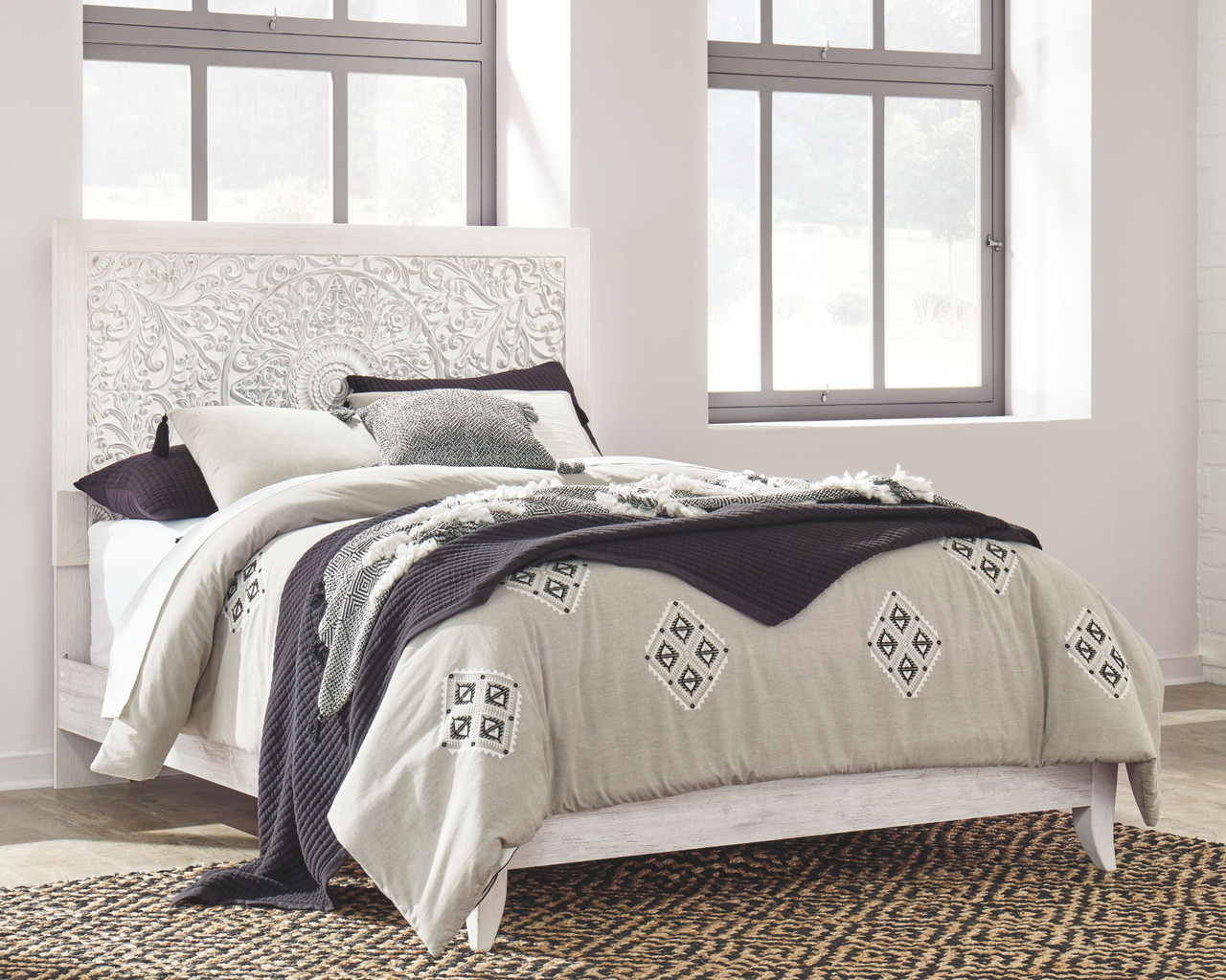 Picture of: The Paxberry Whitewash Queen Panel Bed Available At Nashco Furniture And Mattress Serving Nashville Tn