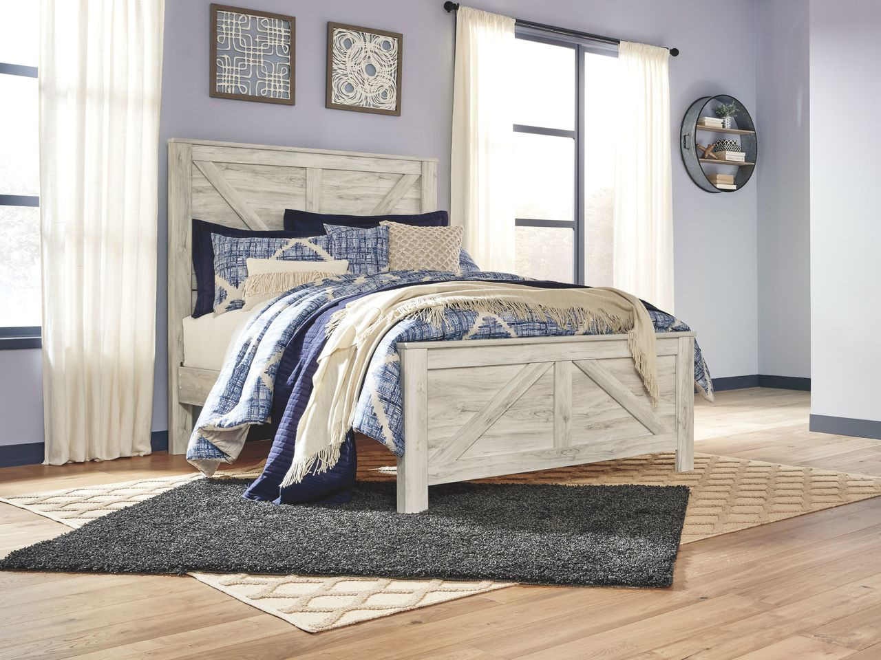 Picture of: The Bellaby Whitewash Queen Panel Bed Available At Nashco Furniture And Mattress Serving Nashville Tn