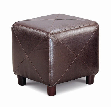The Living Room Glass Top Occasional Tables Dark Brown Cube Shaped Ottoman Dark Brown 500124 Available At Nashco Furniture And Mattress Serving Nashville Tn