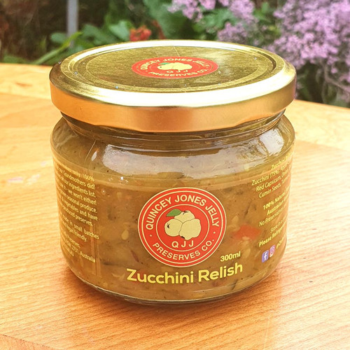The Zucchini Relish is great with eggs - think on an omelette or scrambled eggs or on toast with poached eggs.  All are terrific ideas but the versatility in practically endless - the Zucchini relish is great with hamburgers, salads, cheese boards, tapas plates, sandwiches and wraps. This is a staple in our fridge and a must in any good foodie home.