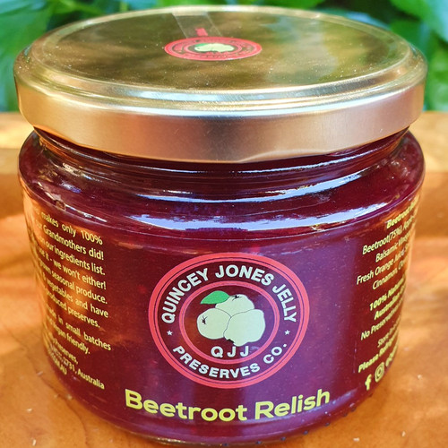 Beetroot Relish! 2018 Melbourne Show, Blue Ribbon Recipe, Highly Commended Relish.