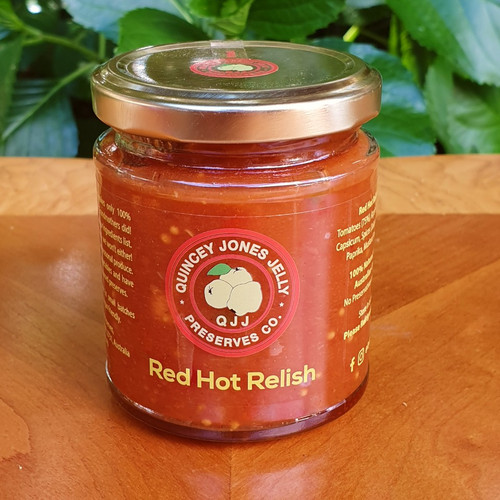 Relish every meal with our Red Hot Relish! The perfect balance of tomatoes and jalapeno chilli's.