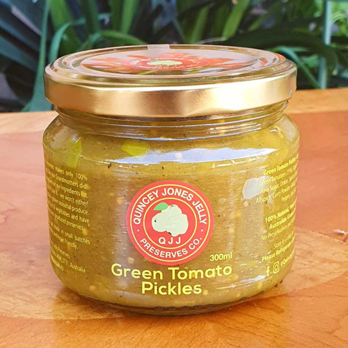 Green Tomato Pickles 300ml - Perfect for Sandwiches and Cheese Toasties