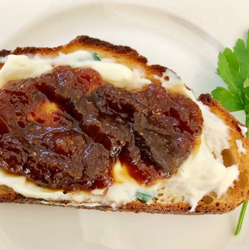 Caramelised Fig & Ginger Chutney - Served on Crusty Sourdough with Creamy Ricotta