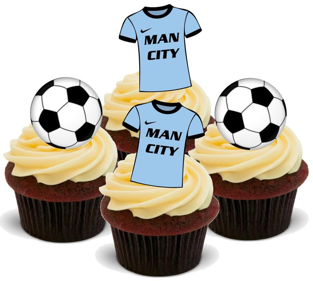 Novelty Fun Party Edible Wafer HULL CITY Colours Shirts Stand-up Cake Toppers