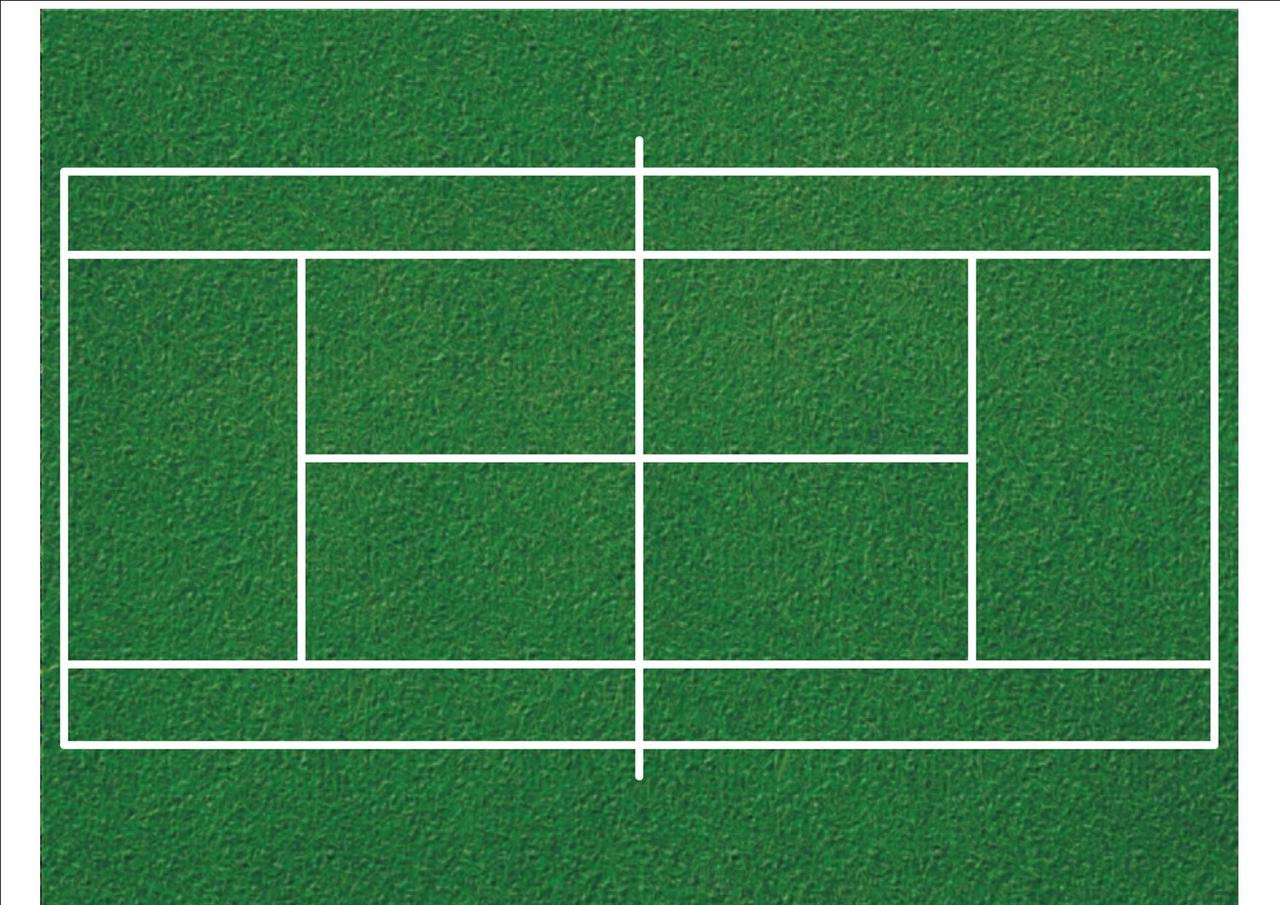 Tennis Court Print Patterned Icing Sheet Cake Topper Just Party