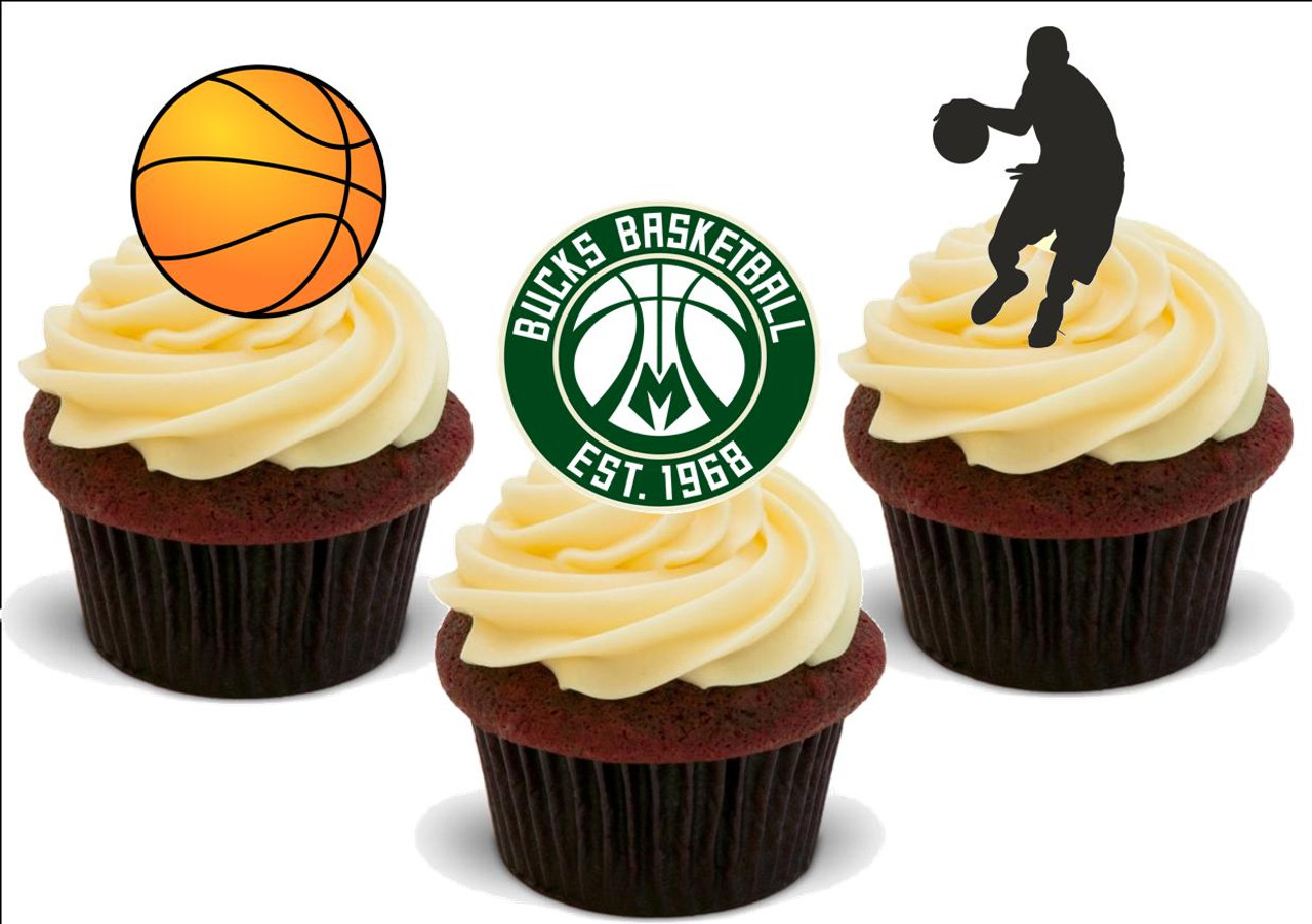 Fantastic Basketball Milwaukee Bucks Mix 12 Edible Stand Up Premium Wafer Funny Birthday Cards Online Sheoxdamsfinfo
