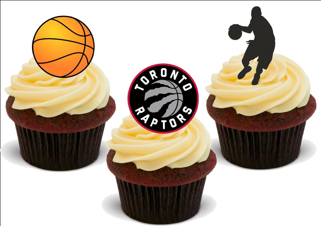 Basketball Toronto Raptors Mix 12 Edible Stand Up Premium Wafer Card Cake Toppers Decorations