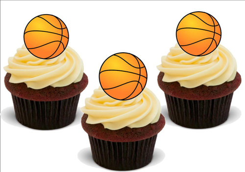 BASKETBALL 12 Standup Premium Wafer Cake Toppers