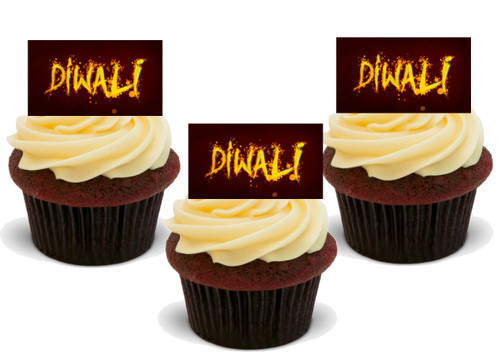 DIWALI in FIREWORKS Edible Standup Premium Wafer Cake Toppers
