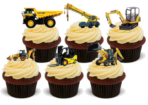 DIGGERS (MIXED) -   Standups 12 Edible Standup Premium Wafer Cake Toppers