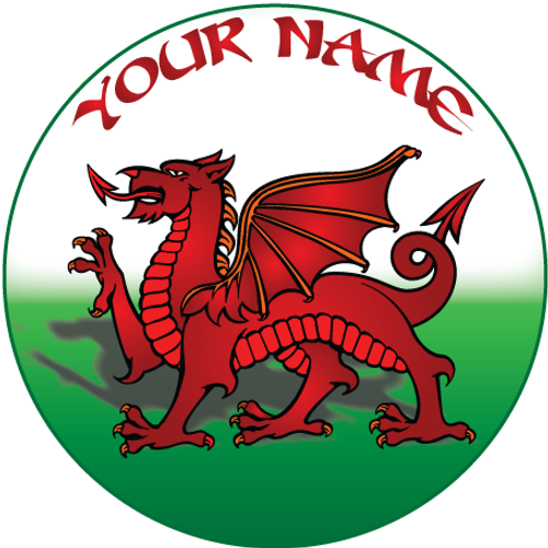 Welsh Dragon Flag Wales Cake Toppers