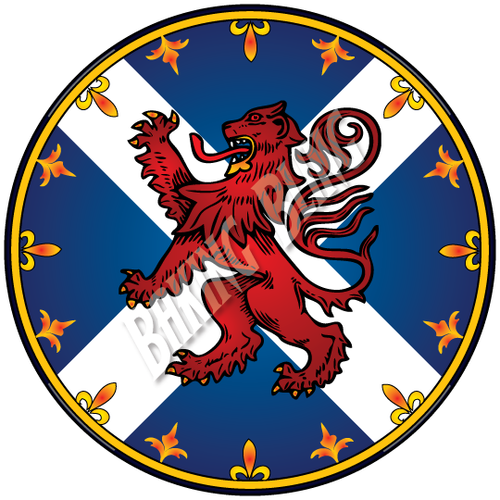 LION RAMPANT Scottish SALTIRE FLAG Cake Toppers